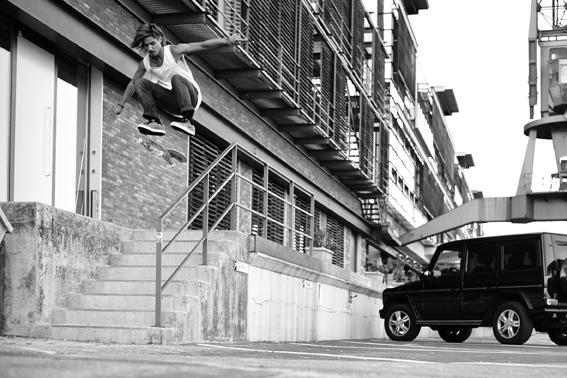 8er Deck Magazine, Skate, Skateboarding, Hamburg, Christopher Shaw, Fotografie, Black White, Kickflip, Kenny Hopf